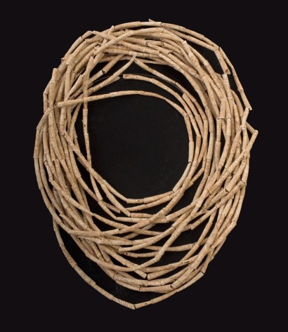 Collana di conchiglie (dentalium) da una tomba neolitica.
