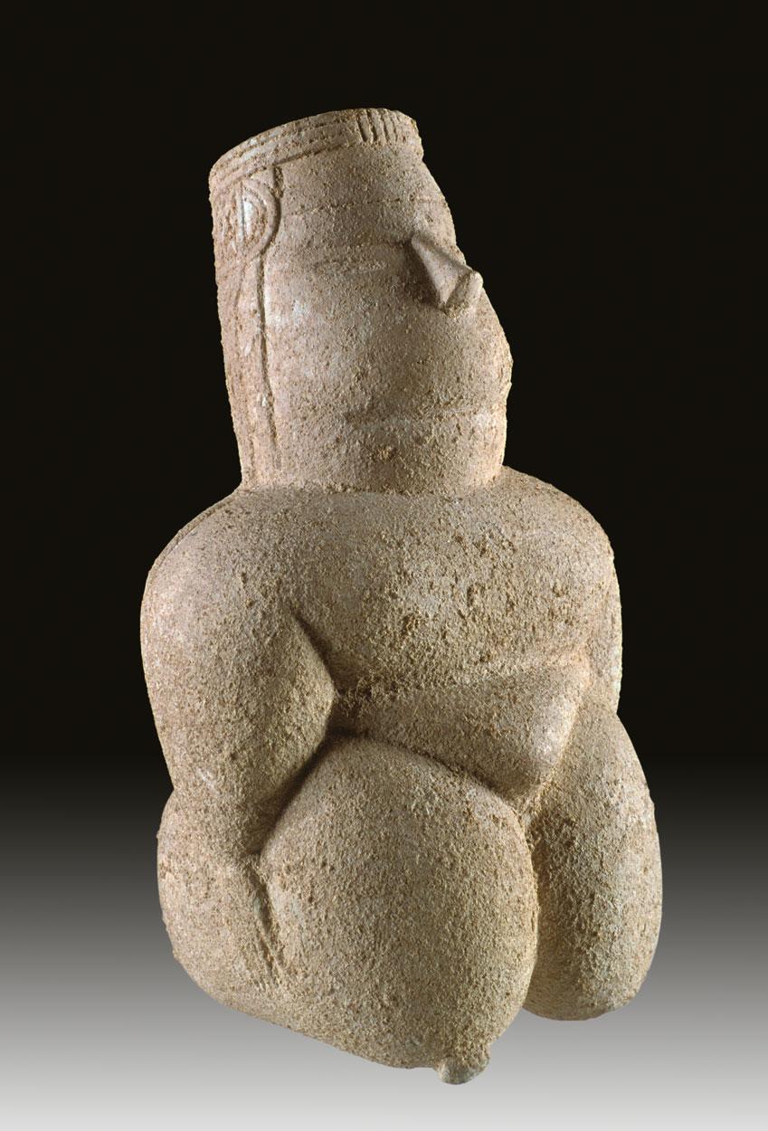 Statuina femminile da una tomba neolitica (Museo archeologico nazionale di Cagliari).