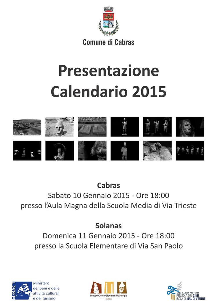 Locandina presentazione calendario 2015 Mont'e Prama