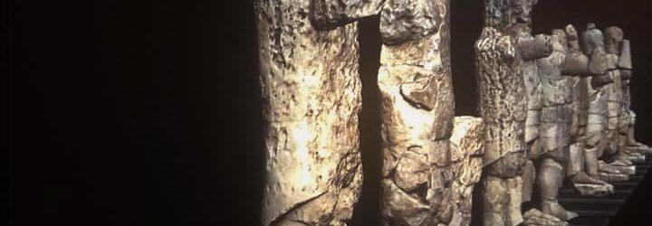 Sala di Mont'e Prama, postazione multimediale (CRS4) - Museo Civico di Cabras.